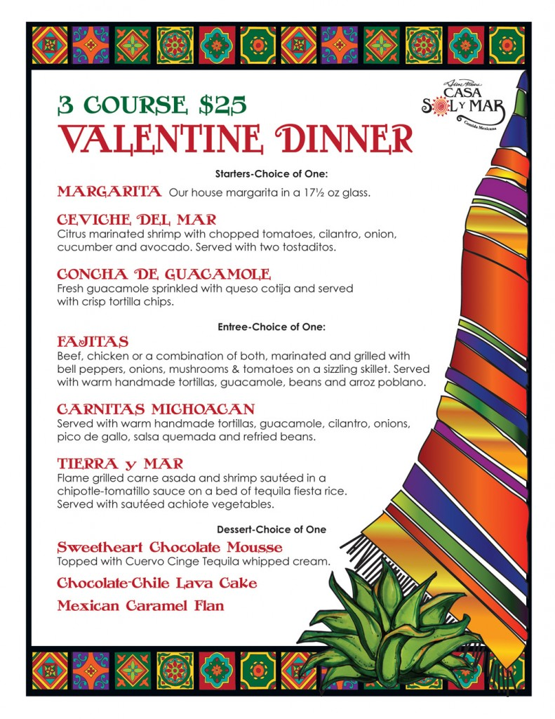 Valentine's Day Menu 2014