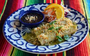 Turkey Picadillo Enchiladas