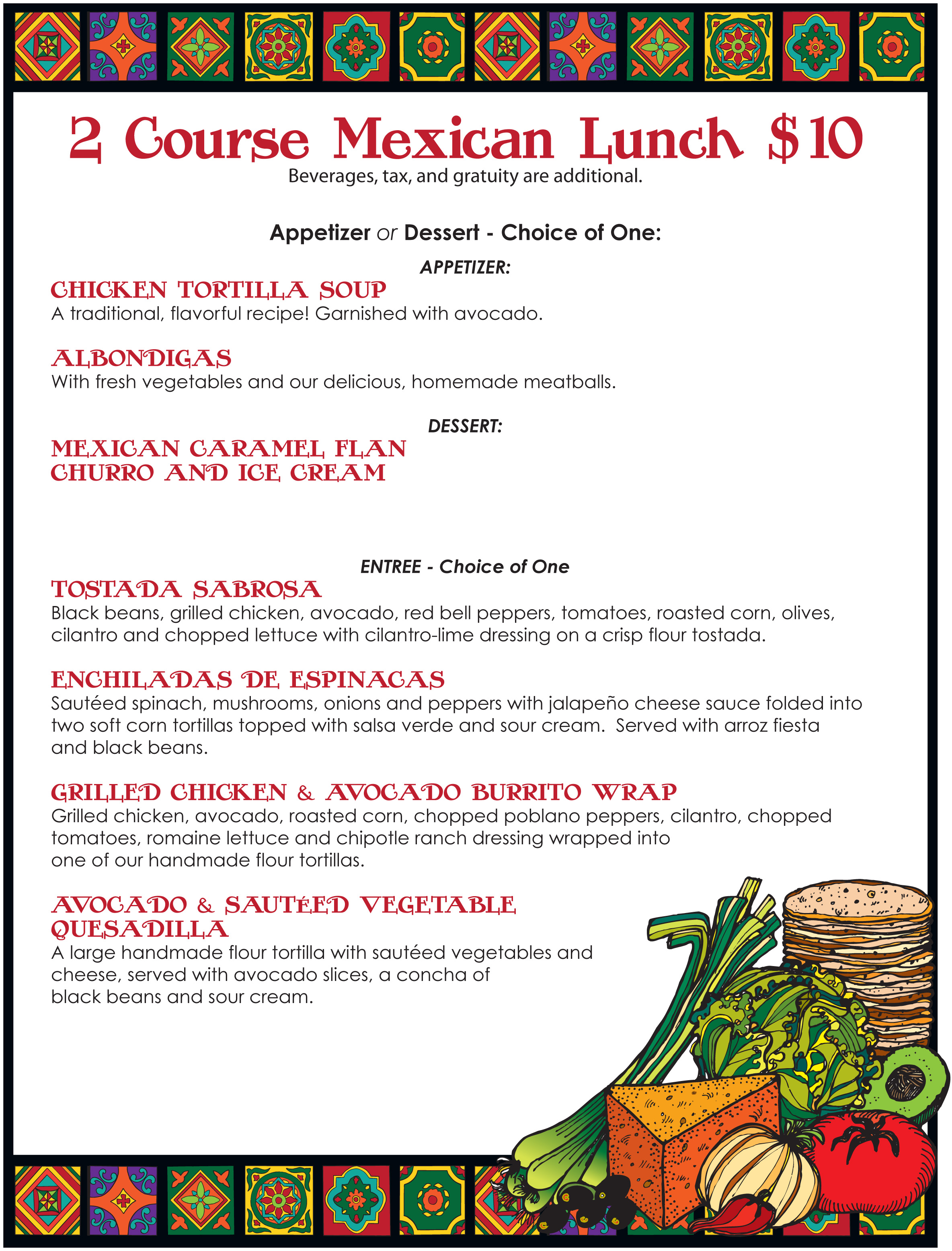 San Diego Restaurant Week Lunch Menu, Sept. 2014