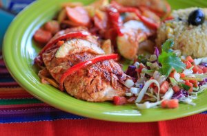 Grilled Salmon Fresco (Photo by Eduardo Contreras, U-T San Diego. Full gallery at: http://goo.gl/Zfk8Q5)
