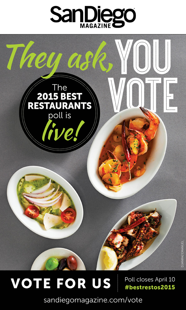 San Diego Magazine's Best Restaurants 2015 poll
